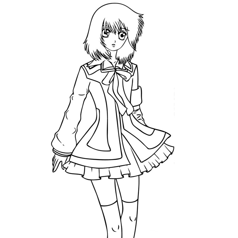 Coloriage Manga Fille A Imprimer Sur Coloriages Info
