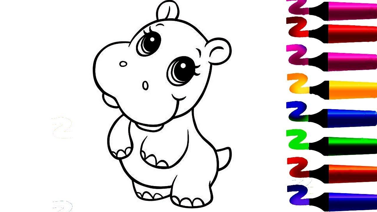 Coloriage Hippopotame Coloriage Magique Comment Colorier Et Dessiner Hippopotame Youtube