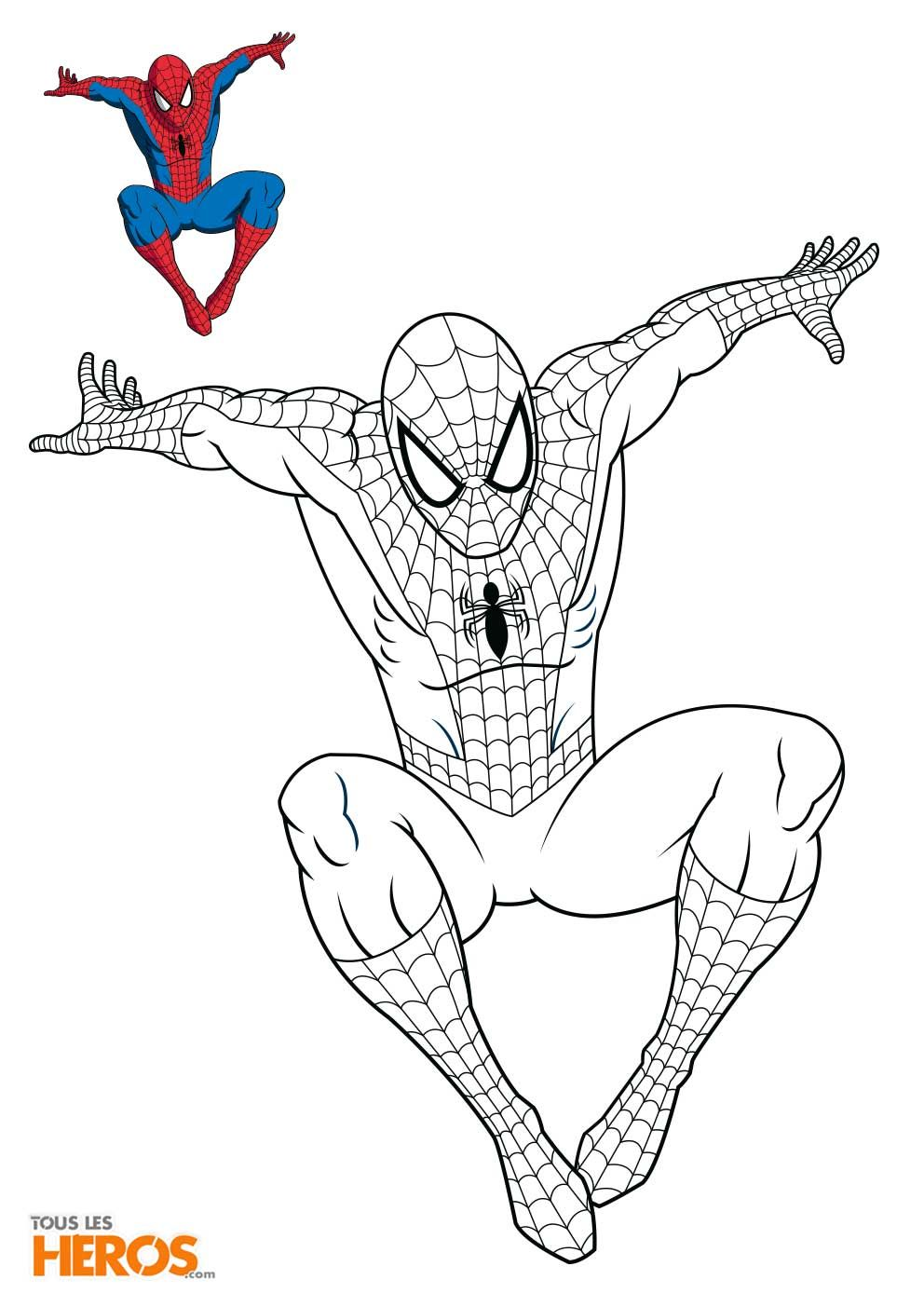 Coloriage Spiderman4 Jpg 992 1403 Coloriage Spiderman Coloriage Dessin Spiderman