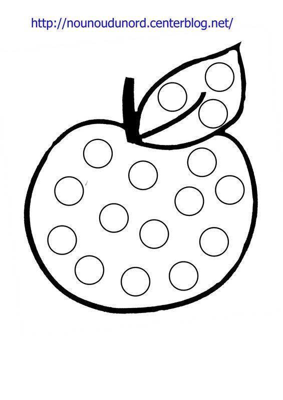 Coloriage A Gommettes La Pomme