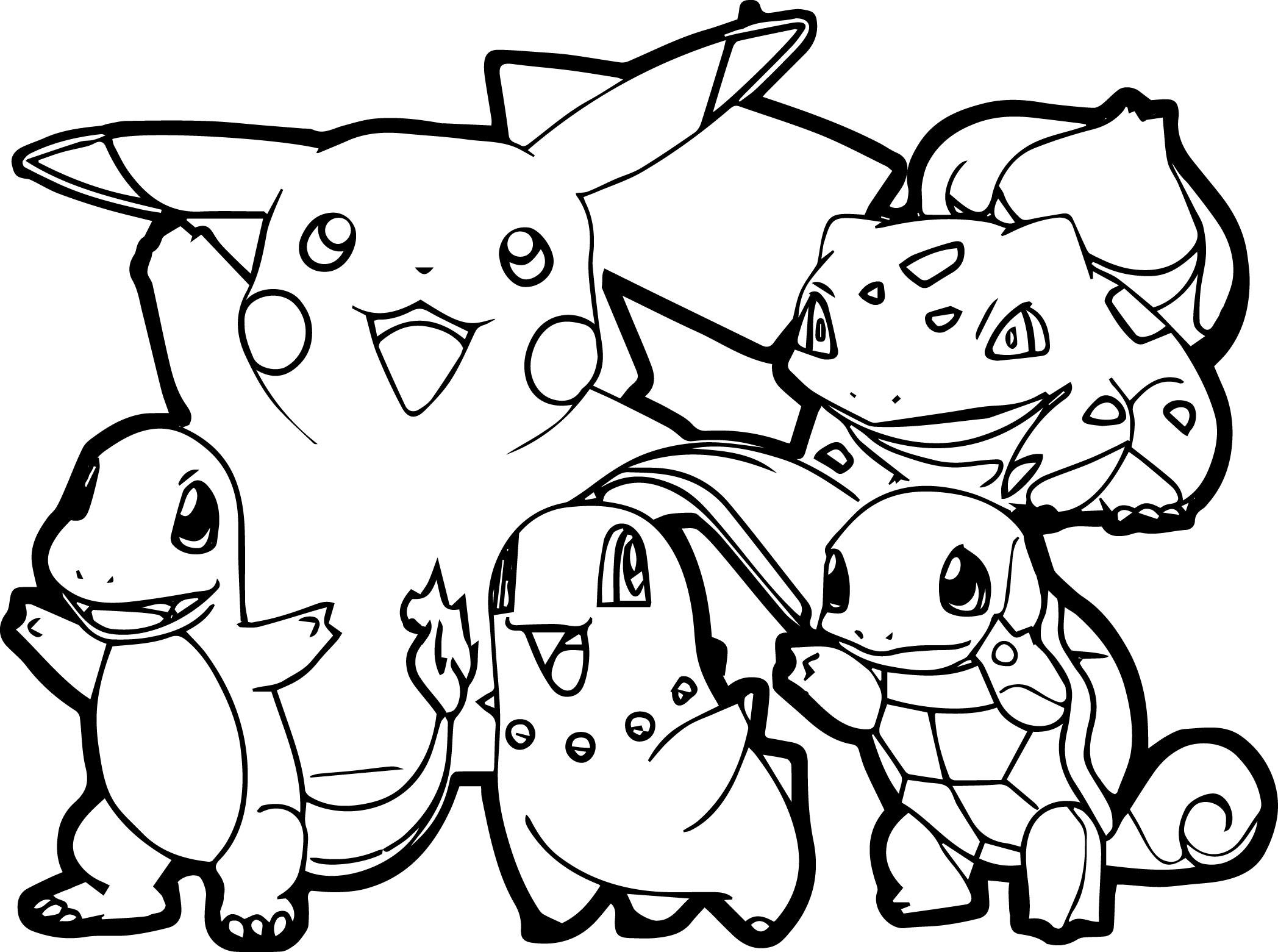Pokemon Traits Epais Tous Les Coloriages Pokemon Coloriages Pour Enfants