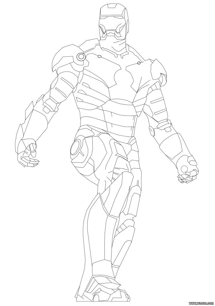 Coloriage Iron Man 2 A Imprimer Et Colorier