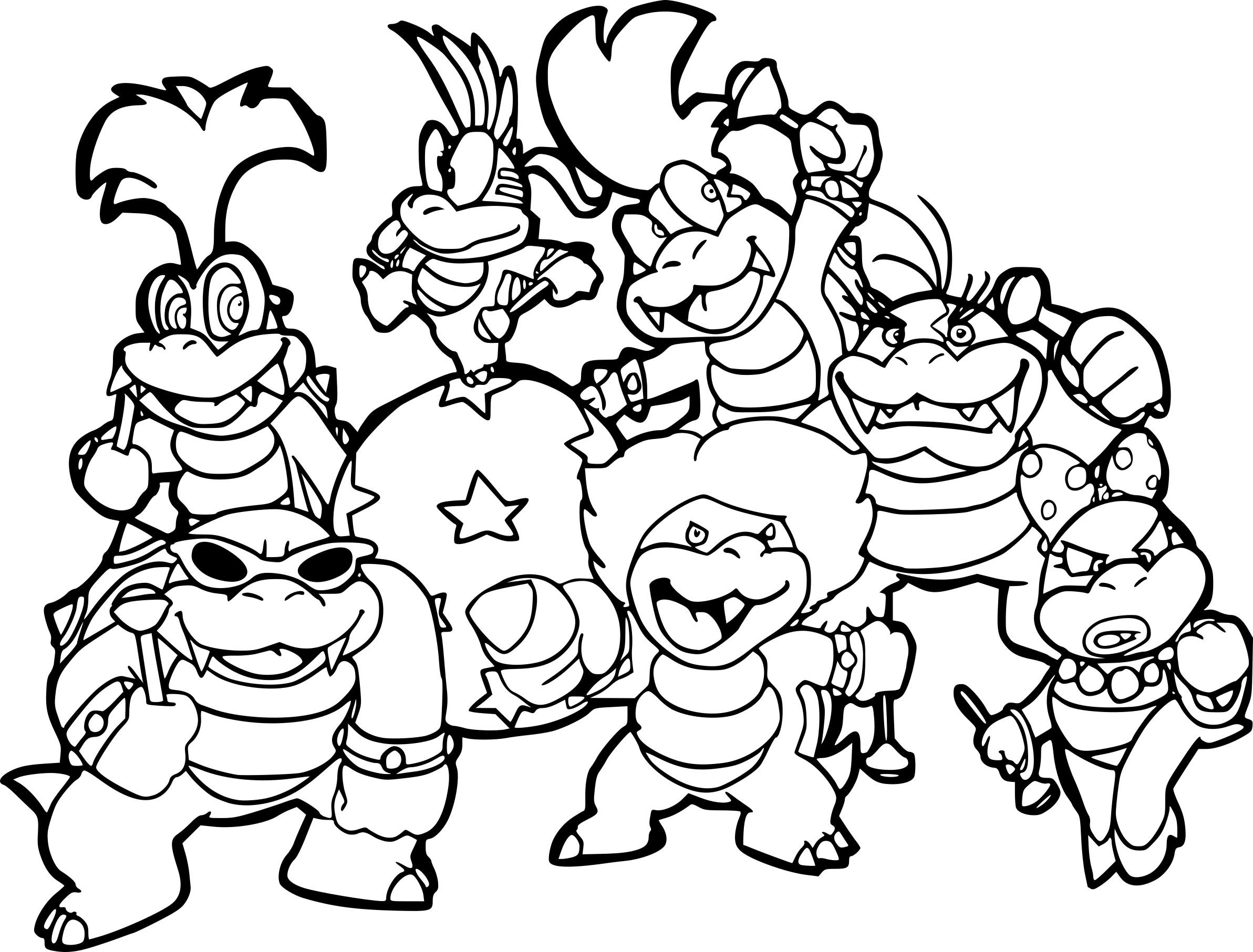 Coloriage Mario Bros A Imprimer Sur Coloriages Info