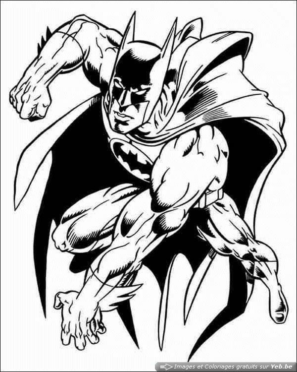Coloriage Super Heros Batman Adulte Dessin Gratuit A Imprimer
