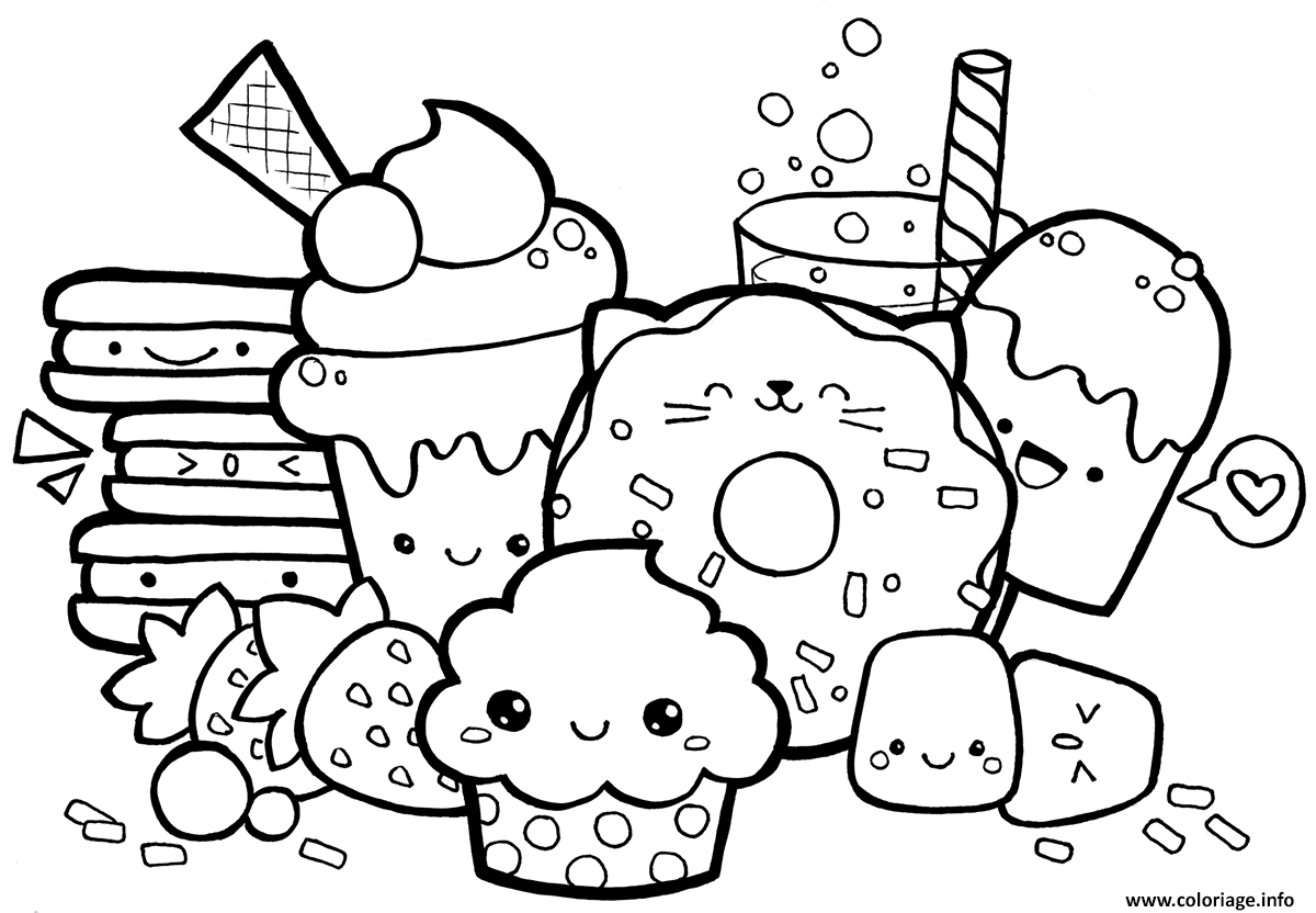 Coloriage Kawaii Food A Imprimer Dessin Kawaii A Imprimer Coloriage Kawaii Dessin Kawaii