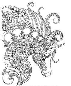 Coloriage Licorne Mandala Monde Licorne