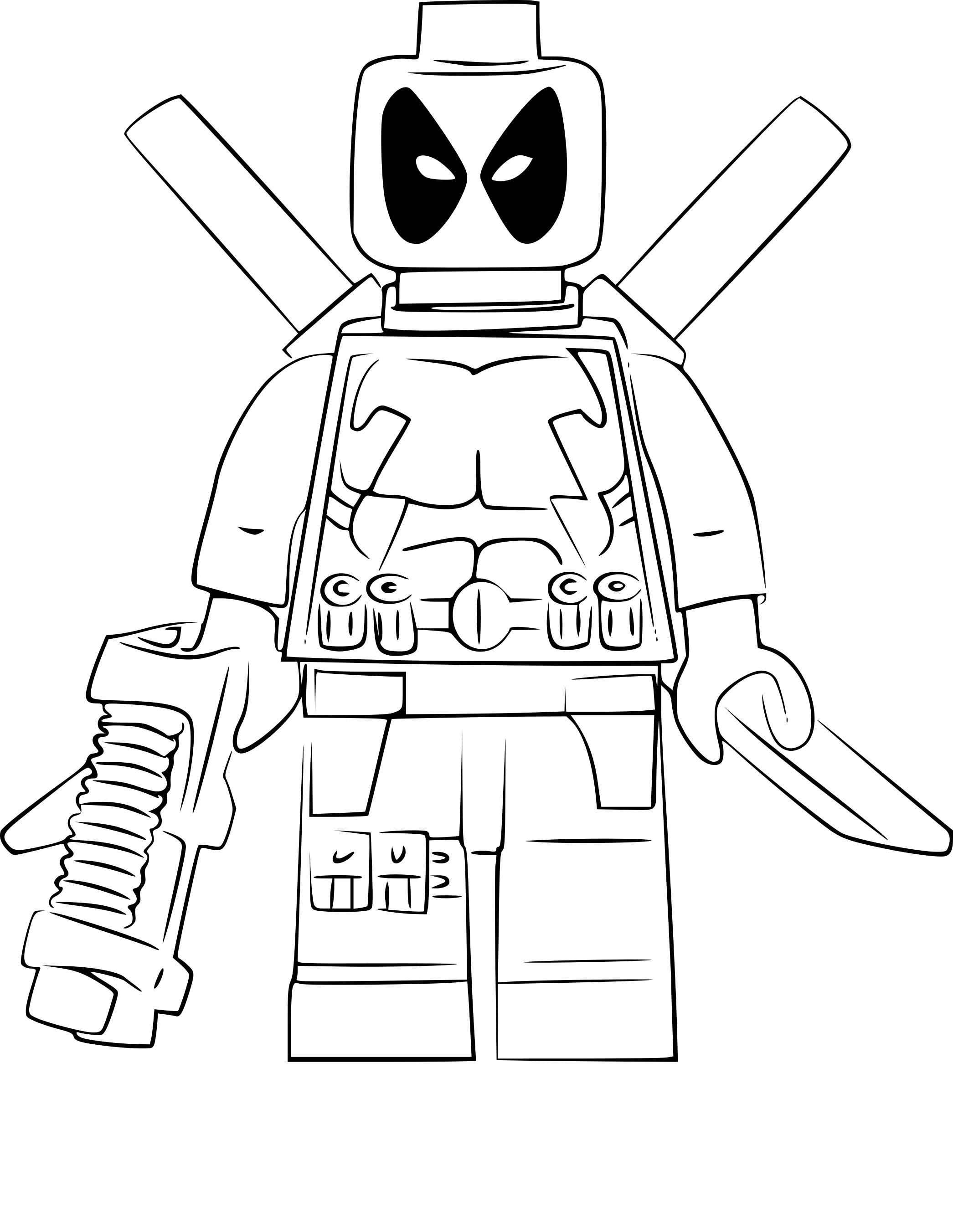 Coloriage Lego Deadpool A Imprimer