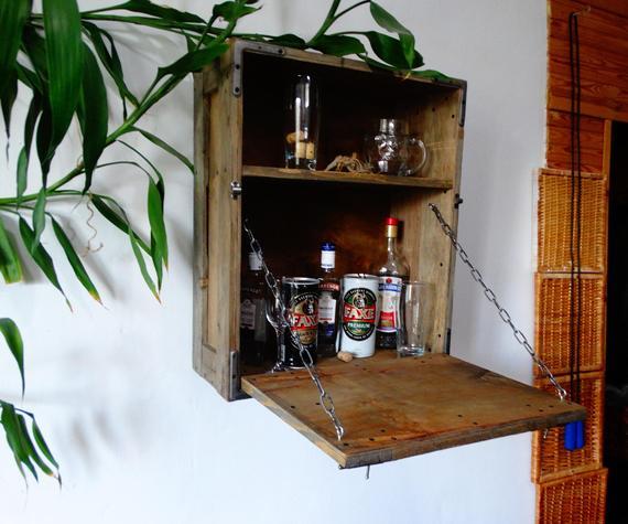 Armoire A Alcool Maison Bar Meubles De Bar Petite Armoire A Etsy
