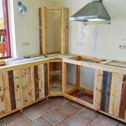 Fabriquer Des Meubles De Cuisine Avec Des Palettes En Bois Fabrication Meuble Meuble Cuisine Mobilier De Salon