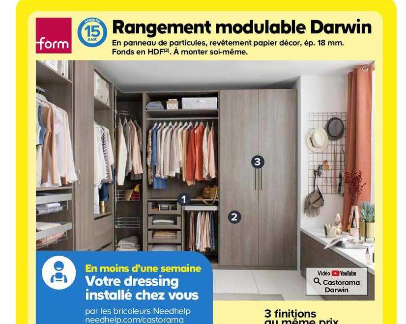 Offre Rangement Modulable Darwin Form Chez Castorama